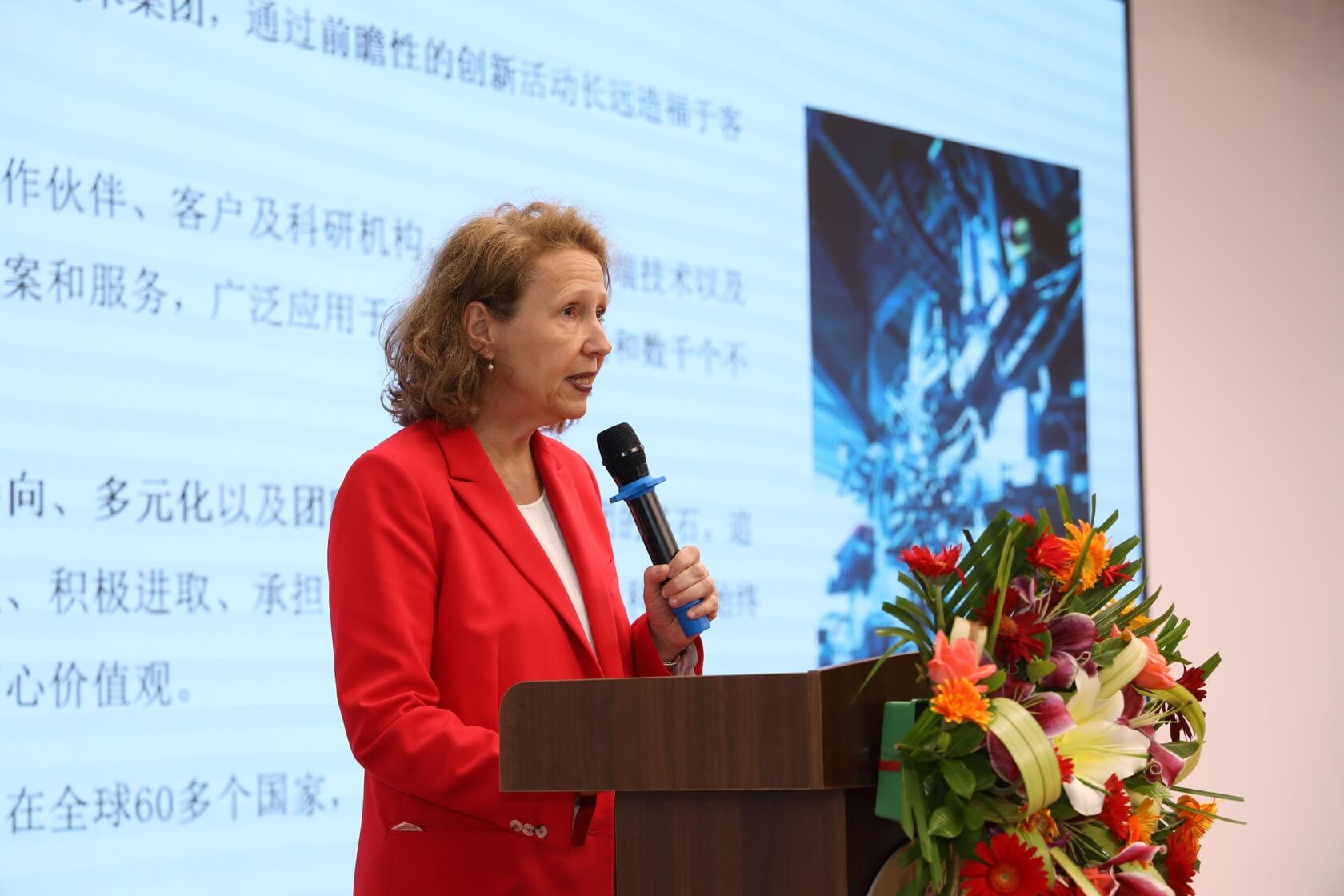 Bettina delivered speech on the seminar