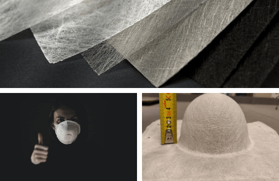 Colback Spunbond Nonwovens molded respirator facemasks molding shape test