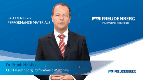 Dr. Frank Heislitz, CEO Freudenberg Performance Materials Group delivered greeting from Germany