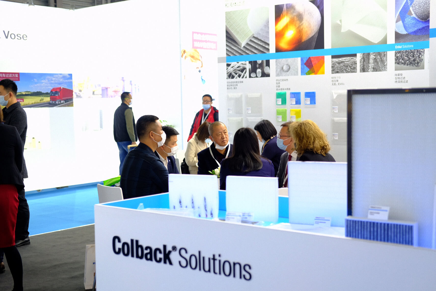 Filtration and separation materials trade show Colback Solutions by Low & Bonar