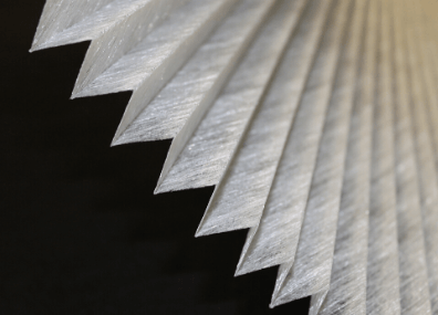 Pleated Colback Non woven fabric for window blinds, filters and more!