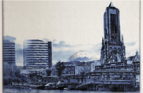 Icons of Arnhem- painting by artist Dorota Roszkowska originally created on Colback nonwoven fabrics