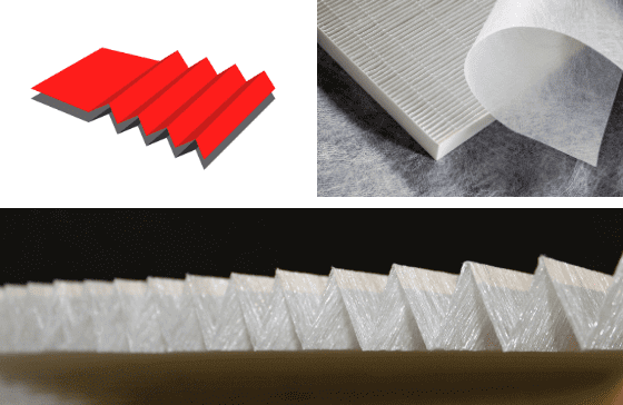 Pleating Air Filter with Colback Nonwovens