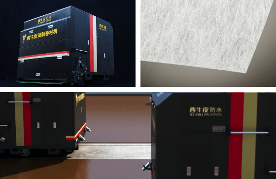 XNP machines with Colback nonwoven fabric carrier layer for liquid applied membranes