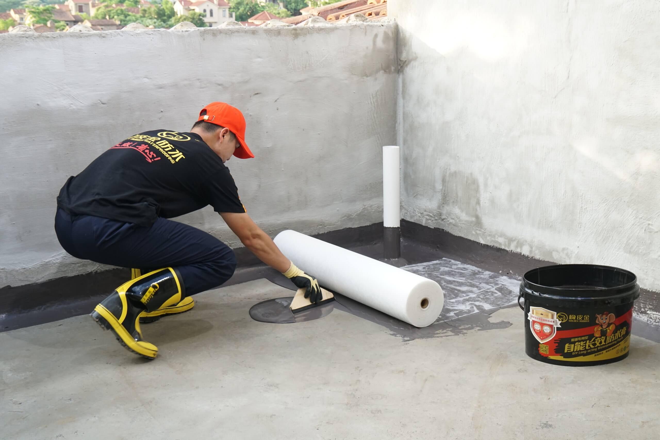 traditional method of installing waterproofing membranes
